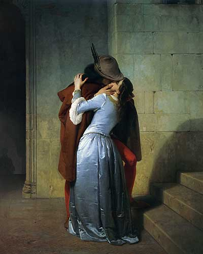 The Kiss, Hayez (16X20)