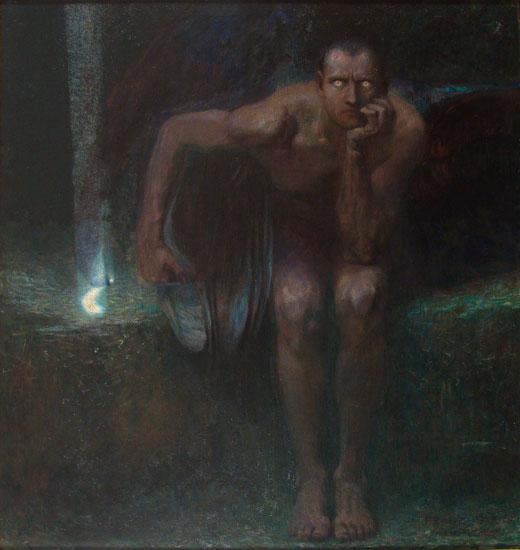 Lucifer, von Stuck (20X22)