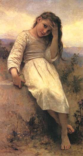The Little Marauder, Bouguereau (16X30)