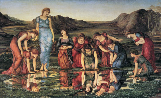 The Mirror of Venus, Burne-Jones (16X26)