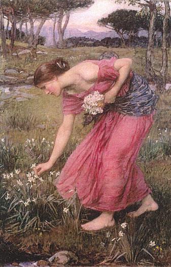 Narcissus, John William Waterhouse (16X25)
