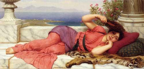 Noonday Rest, Godward (16X33)