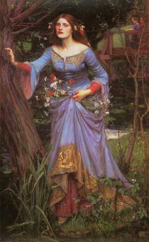 Ophelia 1910, Waterhouse, (24X39)