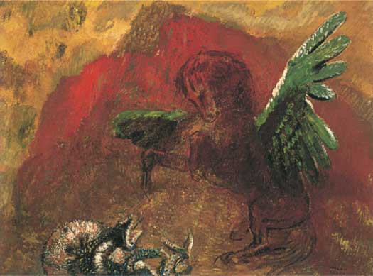 Pegasus and the Hydra, Redon (18.5X25)