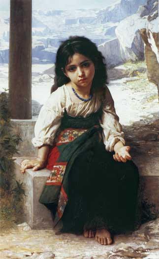 Little Beggar Girl, Bouguereau (16X26)