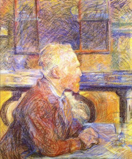 Portrait of Vincent van Gogh, Toulouse Lautrec (22x26.5)