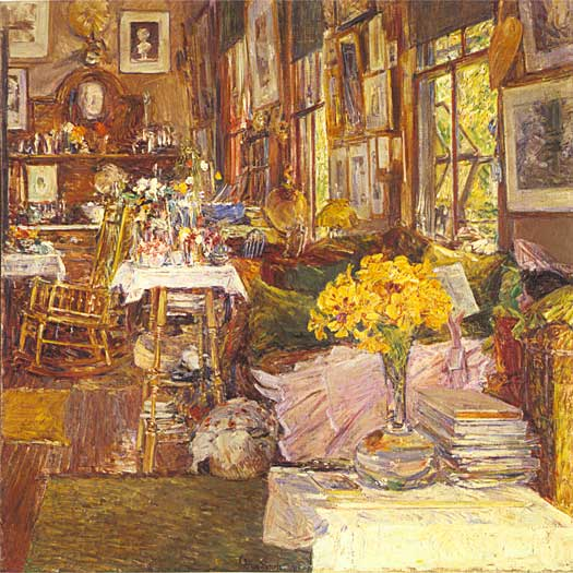 The Room of Flowers, Childe Hassam (20X20)