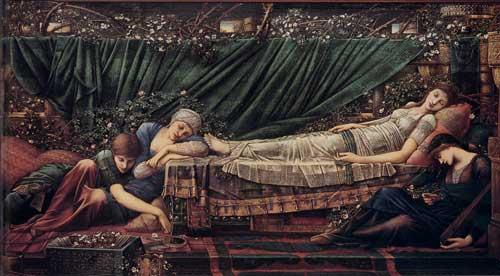 The Rose Bower, Edward Burne-Jones   , Edward Burne-Jones