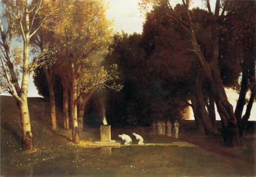 The Sacred Wood, Bocklin (16X23)