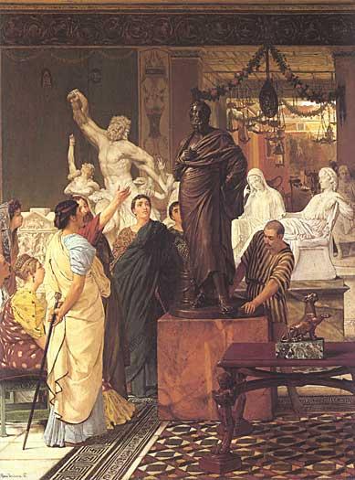 A Sculpture Gallery, Alma-Tadema (20X27)