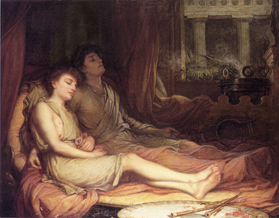 Sleep and his Half Brother Death, Waterhouse(16X20.5)