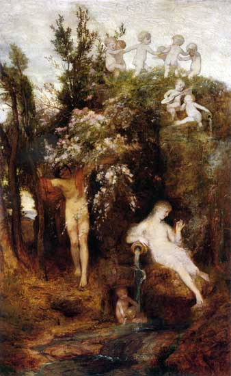 The Source of Spring, Bocklin (16X26)
