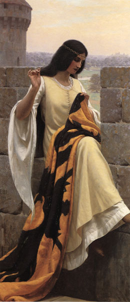 Stitching the Standard, Edmund Blair Leighton