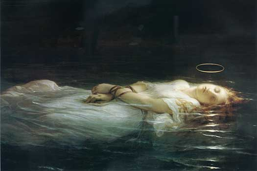 The Young Martyr (detail), Delaroche