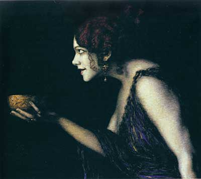 Tilla Durieux as Circe, von Stuck  (16X18)
