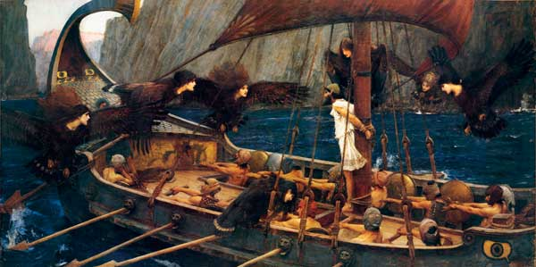 Ulysess and the Sirens, John William Waterhouse