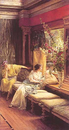 Vain Courtship, Sir Lawrence Alma-Tadema,