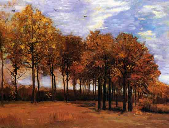 Autumn Landscape, van Gogh (22X29)
