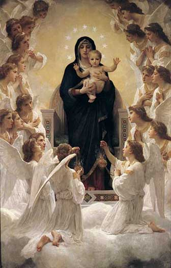 The Virgin & Angels  William-Adolphe Bouguereau
