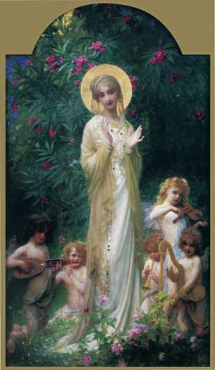 The Virgin in Paradise, Herbert (16X27.5)