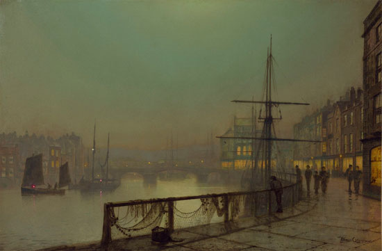 Whitby Harbor, Grimshaw (16X24.5)