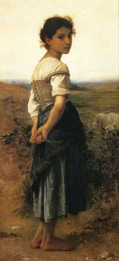 The Young Shepherdess, Bouguereau (16X35)
